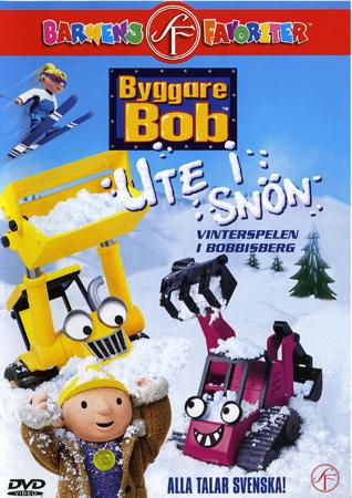 Byggare bob ute i snön