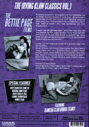 Irving Klaw Classics - Volym 1 the Bettie Page Films